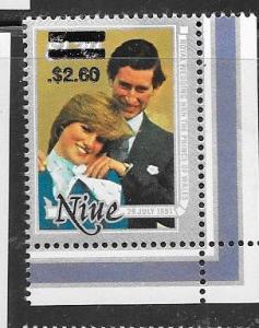Niue #412  $2.60 on$1.20  (MNH) CV $4.00