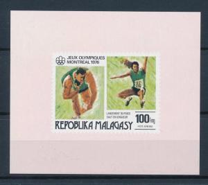 [55776] Madagascar 1976 Olympic games Montreal Athletics MNH Sheet