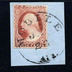 [S6] MOBILE, Ala.Circular Date Stamp [CDS] on US Civil War Era Piece