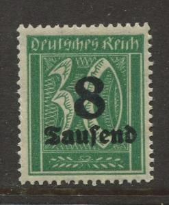 Germany -Scott 241- Definitive Issues -1923 -  MLH - Single 8th on a 30pf Stamp