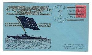 VEGAS - 1940 USA Submarine Tambor Spader Commission Cover, Groton, CT - FD267
