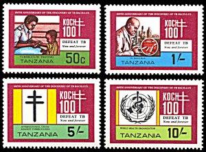 Tanzania MNH 213-6 TB Bacillus Centenary SCV 3.15