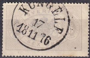 Sweden #O5 F-VF Used  CV $175.00