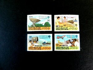 Maldives #997-1000 World Communictions Year 1983, Mint/NH/VF, CV $7.50