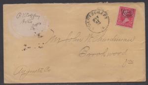 **US 19th Century Cover Scott #279B, Stuarts Draft, VA , Full Color Envelope