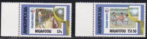 Tonga - Niuafo'ou # 74-75, Ameripex '86, Mint NH
