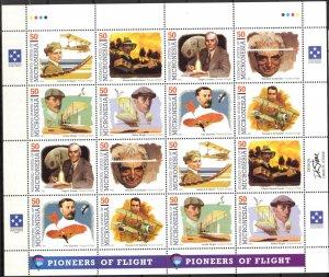 Micronesia 1993 Aviation Space Pioneers of Flight ( II set ) Sheet 2 sets MNH