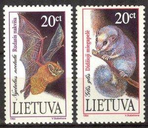 Lithuania 1994 Red Book Fauna Bats Mouses set of 2 MNH