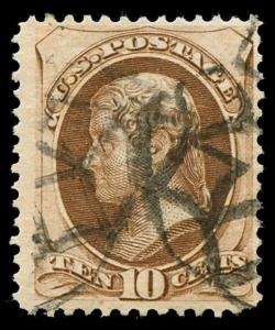 momen: US Stamps #161 Used Weiss GE-EN5 NYFM Cancel