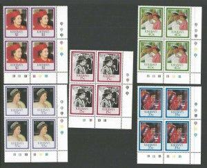 1986 Scouts Kiribati Girl Guides QE II birthday plate blocks