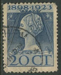 Netherland - Scott 128 - Queen Wilhelmina -1923- Used - Single 20c stamp