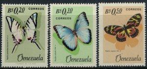 Venezuela #889-91* NH  CV $7.50  Butterflies