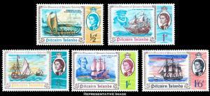 Pitcairn Islands Scott 67-71 Mint never hinged.
