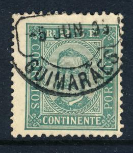 PORTUGAL - 1895  GUIMARÃES  Type 1 Circle Date Stamp on MiNr.70yA 25R Green