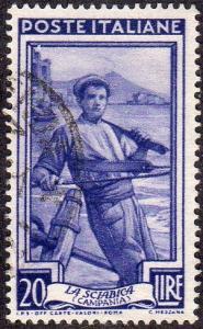 Italy 557 - Used - 20L Fisherman (1950) (3)
