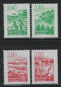 France 1995 Landscapes Definitive set Sc# 2479-82 NH