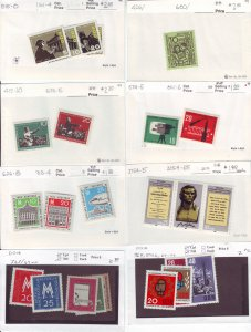 Z648 JLstamps germany DDR mnh with sets on sales cards, been checked & sound