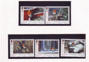Isle of Man  Sc 1069-73 2004 Christmas stamp set mint NH
