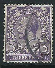 GB George V  SG 423  Used very light crease on reverse se...