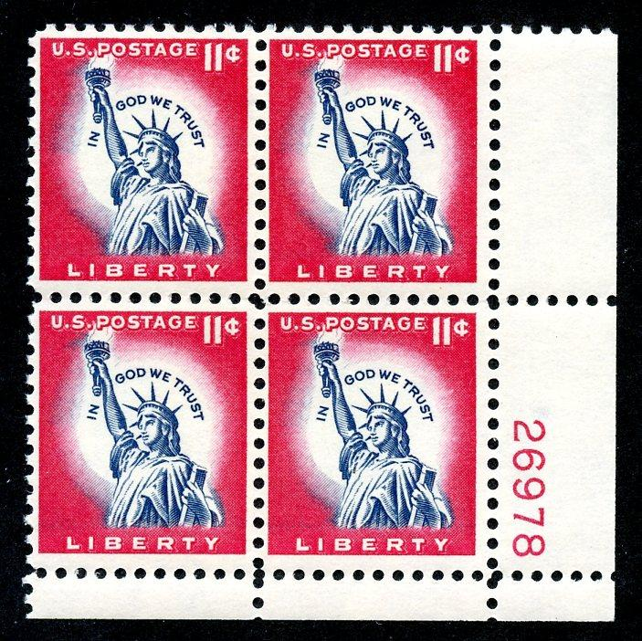 U.S. Scott 1044A FVF MNH Plate Block of 4