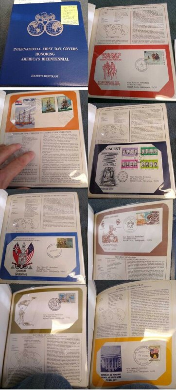 Westport Collectors Society Album with 98 WW 1975-76 Bicentennial Commem Covers