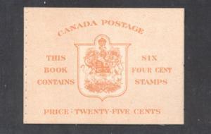 Canada 1951 Bk 42b English 306b cpl booklet mint NH stitched