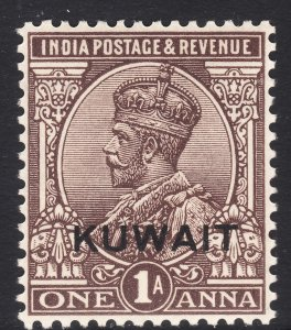 1929 - 1937 British Kuwait KGV 1 Anna issue MNH Sc# 19 Wmk 196 CV $17.50