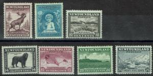 NEWFOUNDLAND 1932 PICTORIAL 5C-20C PERF 13.5