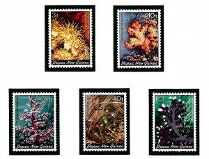 Papua New Guinea 575-79 MNH 1983 Corals