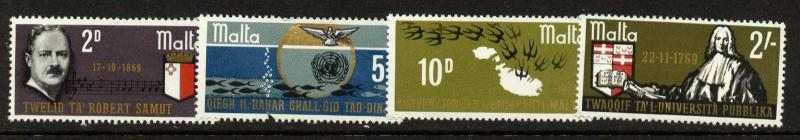 Malta 400-3 MNH Music, Crest, Birds, Fish, Map