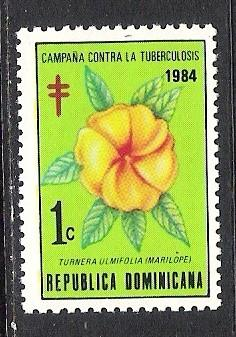 DOMINICAN REPUBLIC RA99 MNH FLOWER S254