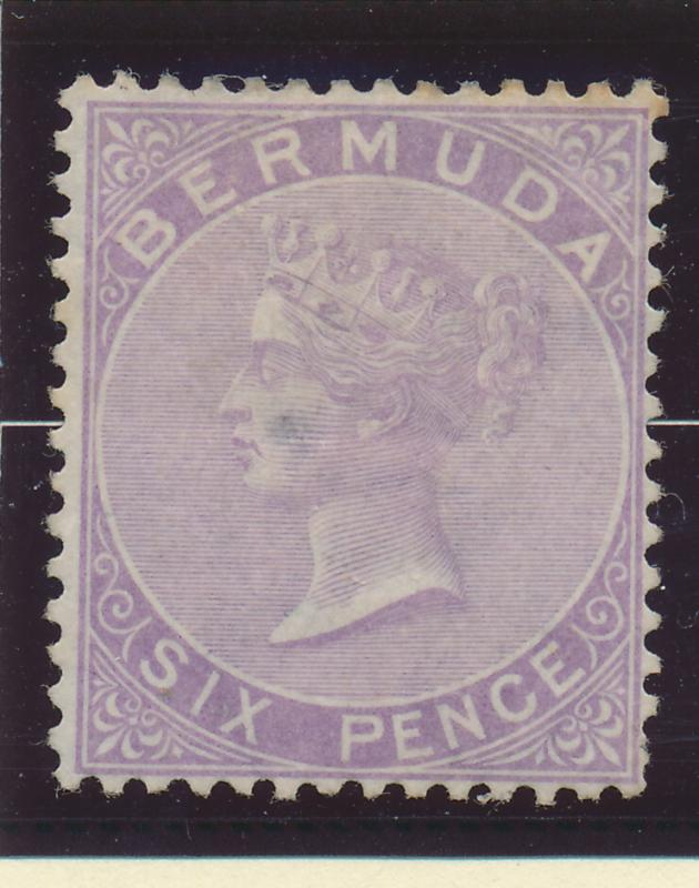 Bermuda Stamp Scott #5, Canceled?, Hinge Remnant