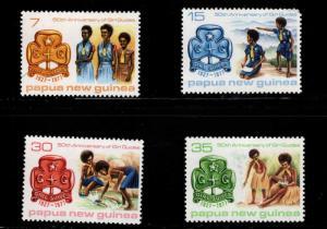 PNG Papua New Guinea Scott 470-473 MNH** Girl Guides set
