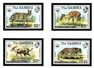 Gambia 341-44 MNH 1976 Abuko Nature Reserve