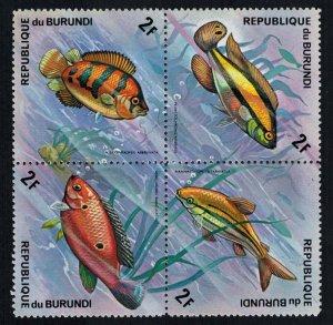 Burundi Scott 450a-450d Mint never hinged.