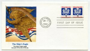 o138A 15 cent, Official, coil pair, Fleetwood FDC