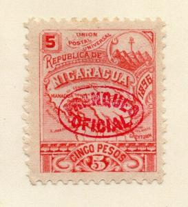 Nicaragua 1897 Early Issue Fine Mint Hinged 5P. Official Optd 323800