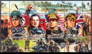 IVORY COAST 2012 WORLD WAR II COMMANDERS GUERRE WELTKRIEG [#1265]