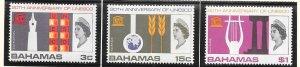 Bahamas #249-251 UNESCO  (MNH) CV$2.35