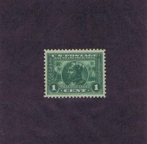 SCOTTS# 397 UNUSED NH OG 1 CENT BALBOA, 1913. GRADED XF 90, PF CERT. GORGEOUS