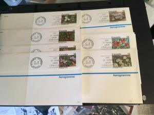 Canada Aerogrammes (7 Diff. Used} USC A34 Postage Postes below stamps. FDC $105.