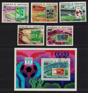 Upper Volta Football 5v+MS 1977 CTO SG#469-MS474 MI#700-704+Block 8