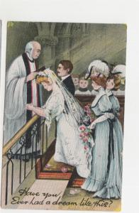 TASMANIA, YORK PLAINS cds., 1911 inwards Victoria ppc. Wedding Ceremony.