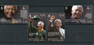 Pitcairn Islands 2014 MNH Nelson Mandela 1918-2013 4v Set Commemorating Life ANC