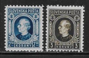 Slovakia 56a-57a Hlinka MNH