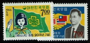 Korea SC# 510 and 511, Mint Never Hinged -  Lot 010117