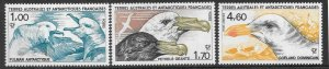 FRENCH SOUTHERN & ANTARCTIC TERRITORIES SG208/10 1986 SOUTHERN FULMARS MNH