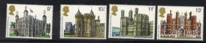 Great Britain Sc 831-34 1978 British Architecture stamp set mint NH