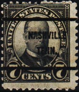 U.S.A. 1922 7c(Pre Cancel) S.G.640 Fine Used