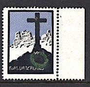 Germany Austria World War I Cinderella For the Fatherland Grave With Cross